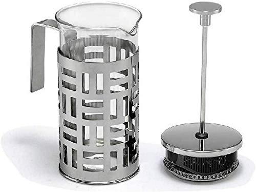zvcv Máquina de café de Prensa Francesa Vidrio de borosilicato de Acero Inoxidable Premium Mango cómodo Efecto de Aislamiento térmico Altamente Transparente para té de Oficina en casa
