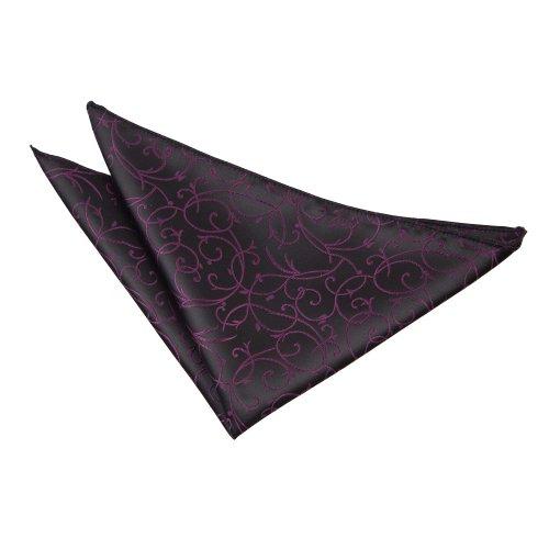 DQT Nouveauté Noir et violet Mouchoir Uni Homme Haute Qualité