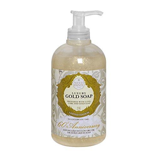 Nesti Dante Luxury Gold Soap 60-th Anniversary Liquid Hand & Face Soap 16.9 Ounces