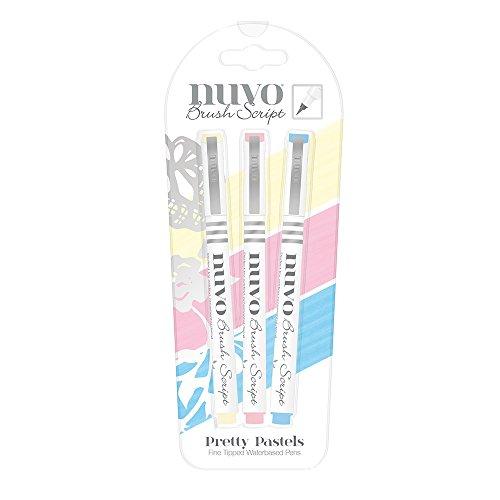 15 x 1 x 1 cm Nuvo by Tonic Studios 891n Lot de 3 Aqua Flow- Sky d Hiver Plastique Multicolore