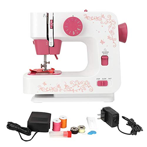 Cosiki Mini Household Hand-held Tailor Electric Sewing Machine with 12 Stitches, Best Sewing Machine for Beginne(US110-240V)