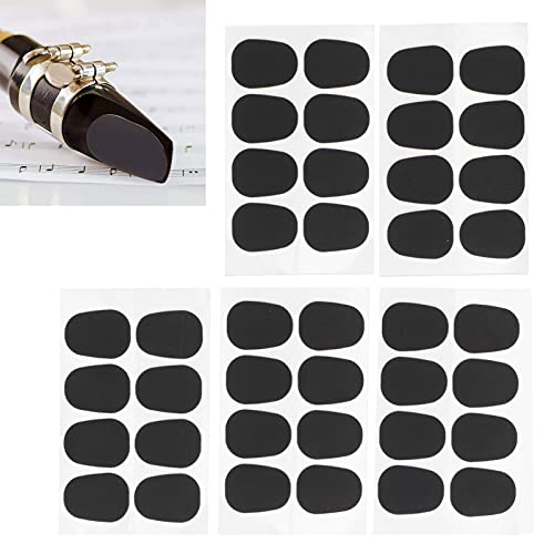 Cojines para boquillas, material apto para uso alimentario, 40 piezas, 0,8 mm, almohadillas para boquillas, accesorio para saxofón alto/tenor(0.5mm)