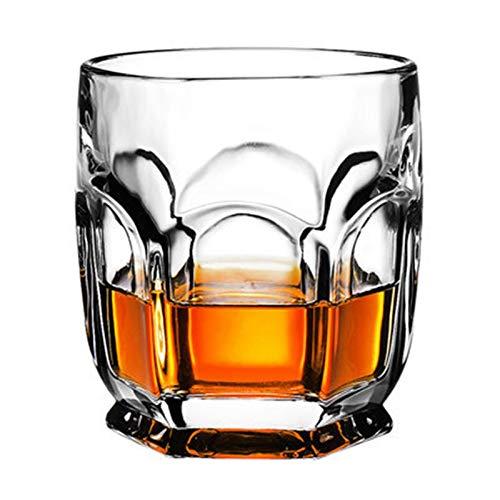 XUFAN Gafas de Whisky de Moda, Whisky escocés, Bourbon, cócteles, Ron, Gafas de Whisky duraderas Vasos de Whisky (Color : 300ml Hexagon)