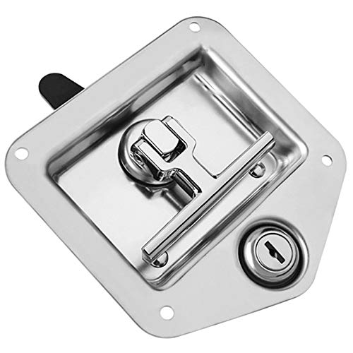 VANOLU Accesorios para Cerraduras de Puertas de Yates Cerradura de Caja de Herramientas de Acero Inoxidable Cerradura de Caja de Herramientas en T