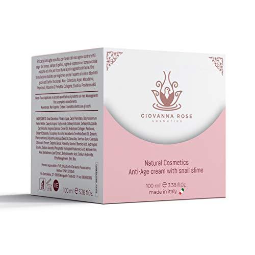 Crema facial antiarrugas 100 ml de baba de caracol y 8 activos funcionales Crema hidratante natural antienvejecimiento para cuello facial y escote Made in Italy