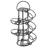 Xkfgcm Eierregal Eieraufbewahrungsregal Eierspender Ei Skelter Deluxe Modern Spiraling Spender Spiralförmiges Design Eierspender Im Spiralförmigen Design bis zu 20 Eier Schwarz