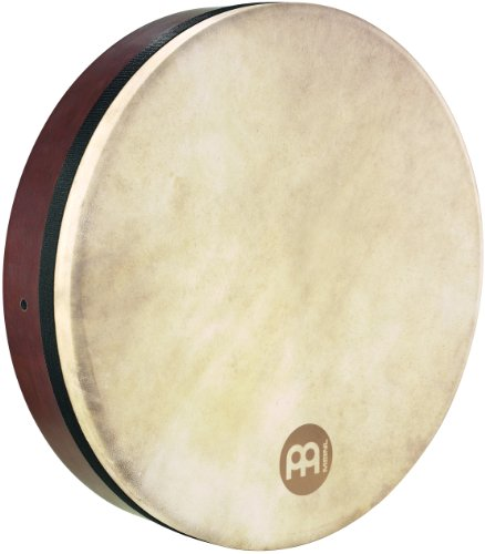 Meinl Percussion 18' Frame Drum with Cross Bar, Celtic Bodhran - NOT MADE IN CHINA - Goat Skin Head, African Brown Finish, 2-YEAR WARRANTY (FD18BO)