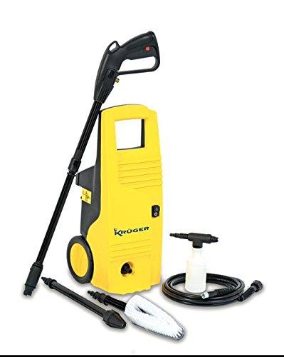 Kruger KH601 Hidrolimpiadora de agua fría a 135 bar. y 360 litros/hora (1800 W, 230 V), color amarillo