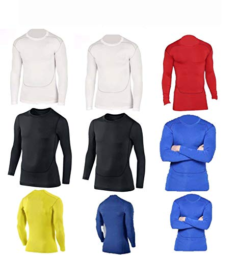 PROSTYLE SPORTS Compression Armour Baselayer Top Thermal Skins Shirt...