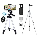Ibeston Phone Tripod 42 Inch 106cm Aluminum Lightweight Tripod with Holder <span class='highlight'>Mount</span> and Bluetooth Wireless Remote Shutter <span class='highlight'>for</span> Camera and iPhone Samsung and Other Android Smartphones