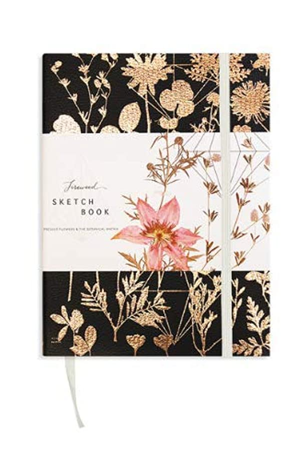Fireweed: Sketchbook - Sketch Pads for Drawing - Blank Notebook for Home Office, Travel, Or School - Quality Sketchbook, Drawing Pad and Writing Journal (Black Shine)