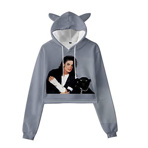 Michael Jackson Fashion Tops Kleidung Sweatshirt Hoodie Merchandise Frauen Hoodies Pullover Lustige Kapuze Short Board Sweater