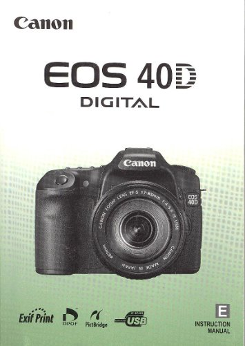 Canon 40D Original Instruction Manual
