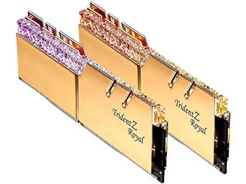 G.SKILL Trident Z Royal Series 16GB (2 x 8GB) 288-Pin RGB DDR4 3600 (PC4 28800) Desktop Memory...