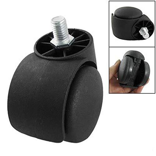 Swivel Caster Vervanging 2 inch Twin Wheel draaibare Caster Roller voor bureaustoel