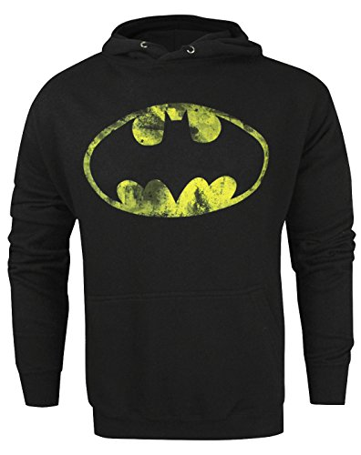 Official Batman Classic Distressed Logo Men's Hoodie