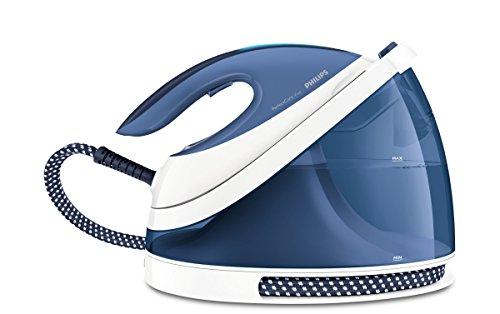 Philips PerfectCare Viva GC7057/20 estación plancha al vapor 2400 W 2 L Suela SteamGlide Plus Azul, Blanco - Centro de planchado (2400 W, 6 bar, 2 L, 340 g/min, 120 g/min, Suela SteamGlide Plus)
