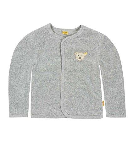Steiff Unisex - Baby Jacke 1/1 Arm, Einfarbig, Gr. 56, Grau (Steiff Softgrey Melange Gray 8200)