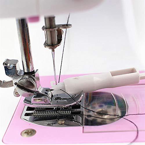 Máquina de coser enhebrador hogar máquina de coser multifunción herramienta de bricolaje para enhebrar rápidamente la herramienta de costura del cambiador de agujas de la máquina de coser blanco