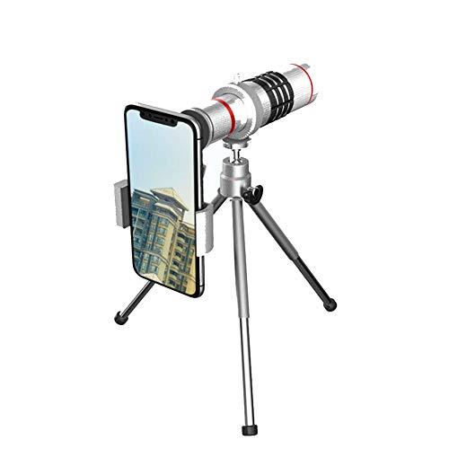 HUATXING 18X Mobile Telescope, Zoom Lente Universal Clip Bracket teléfono móvil Lente teleObjetivo, monocular para observación de Aves, Escalada, Adecuado para Principiantes niños Amateur para niños