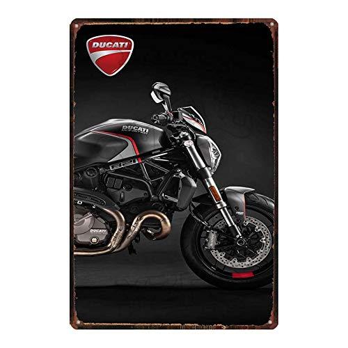 ayingzhenxiao Cartel de Chapa de Aceite de Motor de Motocicleta Retro, Barra de Pared de Garaje, Tienda de casa, Placa de Metal Art Deco 20x30cm DU-6911