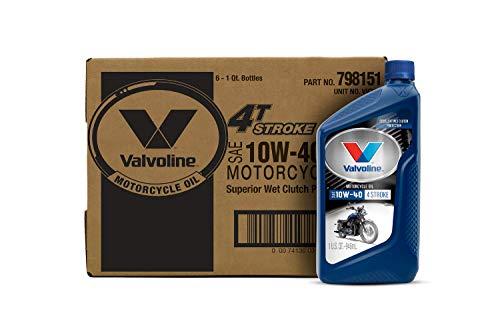 Valvoline 4-Stroke Motorcycle SAE 10W-40 Motor Oil 1 QT, Case of 6