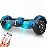 YZX Self-Balancing Scooter 6.5 Inch Supports App Remote Control and Bluetooth Music Suspension Automatic Scooter Child Adult Leisure Out of Travel Tools