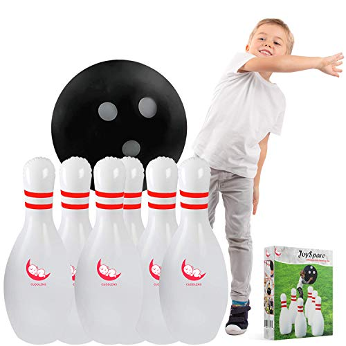 Cuddlens Kids Bowling Set Indoor Games or Outdoor Games for Kids - USA Brand - Hilariously Fun Giant Yard Games for Kids and Adults - Family Games - Inflatable Bowling Kit for Kids