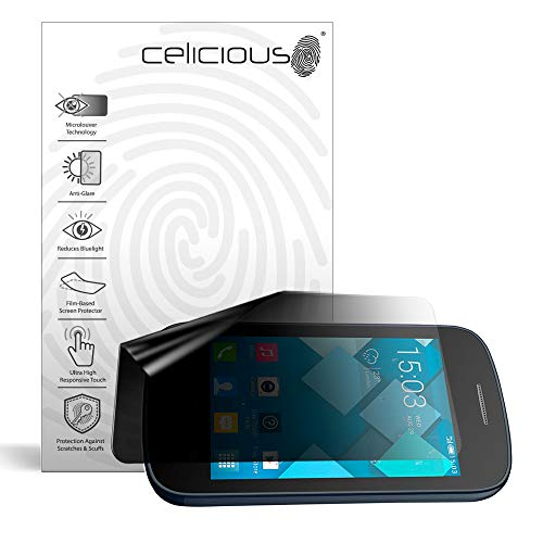 Celicious Privacy Lite (Landscape) 2-Way Anti-Glare Anti-Spy Filter Screen Protector Film Compatible with Alcatel Onetouch Pixi 2