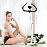YAMMY 2020 Indoor Spin Bike Treppenstufen-Trainingsgerät mit Lenker und LCD-Monitor, aerobe Stepper für Heimübungen (Indoor-Fahrrad)