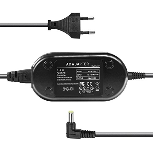 kj-vertrieb Netzteil - 8,4V 1A - Stecker 4,7 x 2,0mm - für Panasonic DMW-AC7, Lumix DMC-FZ50, DMC-FZ30, DMC-GH2