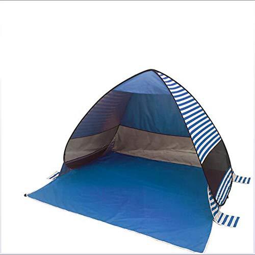 3-persoons schermtent Familietent Buiten lichtgewicht Winddicht UV-bestendig Enkellaags automatische campingtent 1000-1500 mm voor vissen Strand Kamperen/wandelen Coating Teryleen 200 * 165 * 130