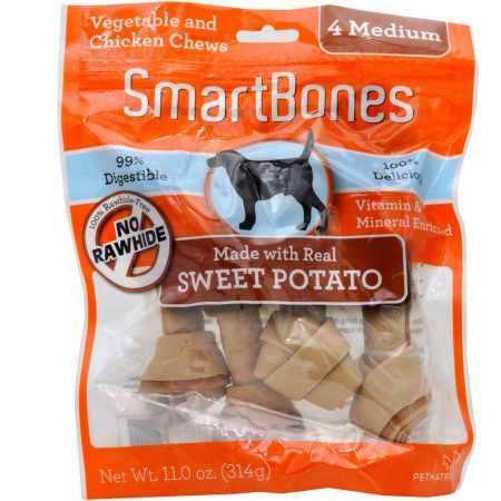 SmartBones 923040 Sweet Potato Dog Chew, Medium, 4 pieces/pack