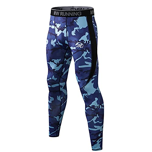 MEETWEE Men's Compression Pants, Cool Dry Running Athletic Tights Workout Leggings Long Base Layer for Gym Fitness Sports (Camo, X-Large)