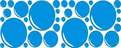 36 Bubbles voor Badkamer Tegels spiegel Bubble stickers voor douche of zelfs Auto Bumper Sticker transfers. (afbeelding alleen geen achtergrondkleuren) zie technische informatie voor maten verschillende kleuren beschikbaar op aanvraag