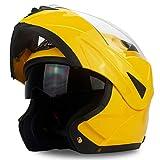Motesen Revisión del casco de motocicleta modular para adultos Cascos de motocicleta Filp Up Cascos DOT para cascos de motocicleta modulares con clasificación integral para hombres