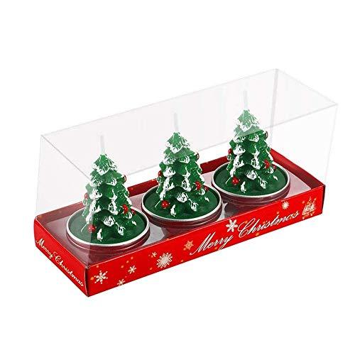 Longsing Weihnachten Schneemann Kerzen Kerzen Weihnachtsmann Weihnachten Kerzen Weihnachtsbaumkerze Geschenksets für Die Inneneinrichtung 3 Stück(Weihnachtsbaumkerze)