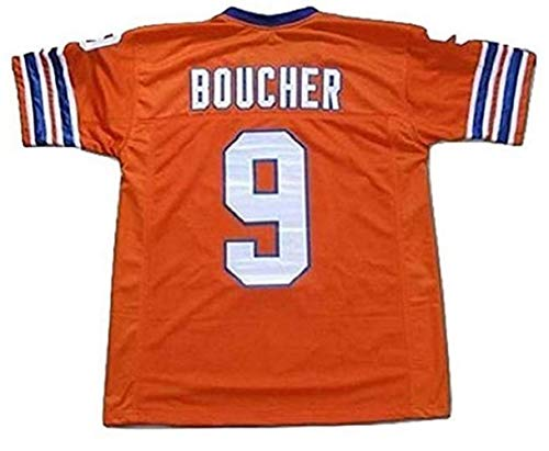 borizcustoms Adam Sandler Bobby Boucher The Waterboy Mud Dogs Football Jersey with Bourbon Bowl Patch (46)
