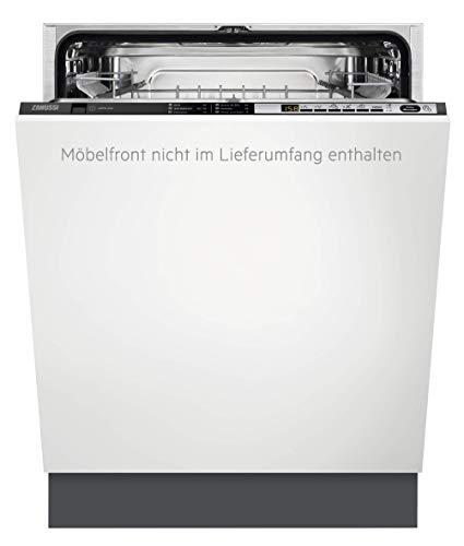 Zanussi ZDT26022FA Vollintegrierter-Geschirrspüler / 60cm / AirDry - perfekte Trocknungsergebnisse / A / energiesparend / Besteckkorb / Glasprogramm / Beladungserkennung / Intensivprogramm