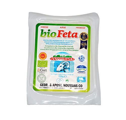 Vassilitsa BIO Feta BIO Schafkäse - 10x 150g Vakuum - BIO Fetakäse BIO griechischer Feta Schafskäse in Salzlake Vakuumverpackung Sheep Cheese 43% Fett i.Tr. aus Griechenland glutenfrei Biologisch