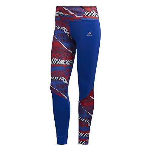 adidas Own The Run Tgt Leggings Sportivi, Donna, Team Royal Blue/Scarlet/Black, XL