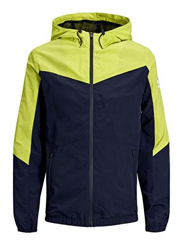 JACK & JONES Herren JCOSPRING Light Jacket Jacke, Mehrfarbig (Sulphur Spring Fit: W. Maritime Blue Bottom), X-Large (Herstellergröße: XL)