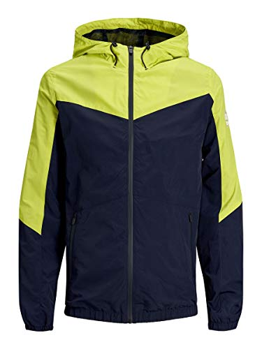 JACK & JONES Herren JCOSPRING Light Jacket Jacke, Mehrfarbig (Sulphur Spring Fit: W. Maritime Blue Bottom), Medium (Herstellergröße: M)