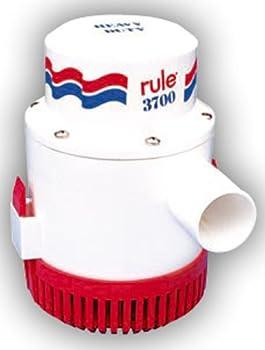 Rule 14A 3700 GPH Heavy Duty Bilge Pump Non-Automatic 12 Volt  White/Red