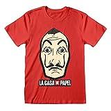 La Casa De Papel Money Heist Mask Camiseta para Hombre Rojo 2XL...
