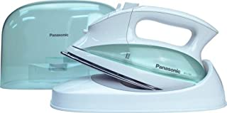 Panasonic Contoured Stainless Steel Soleplate, Vertical, Auto Shut Off, Power Base and Carrying/Storage Case – NI-L70SRW Cordless 1500W Steam/Dry Iron, standart, Green/white