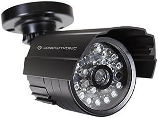 Conceptronic CFCAMOIR - cámaras de seguridad ficticias (Bullet, Interior y exterior, Negro, De plástico)