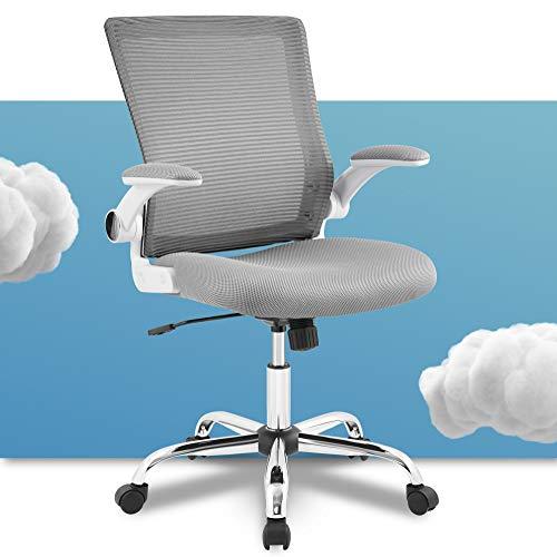 Serta Creativity Ergonomic Mesh Office Computer Desk Chair, Adjustable Armrest with Mid-Back Lumbar Support, Gray
