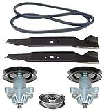 Bolens 38' Mower Deck Parts Rebuild Kit Spindle Assemblies Blades Belt Idler Pulleys Fits Model 13AC762F065 13AM761F065 13AM761F265 13AM762F065 13AM762F765 13W1762F065 13WC762F065 13WC762F265