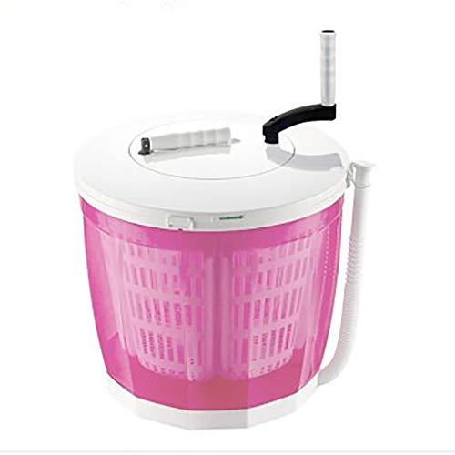 Mini-wasmachine, compacte wasmachine, draagbaar, duurzaam, draaiknop en draaibare wasmachine, 4,5 lbs.